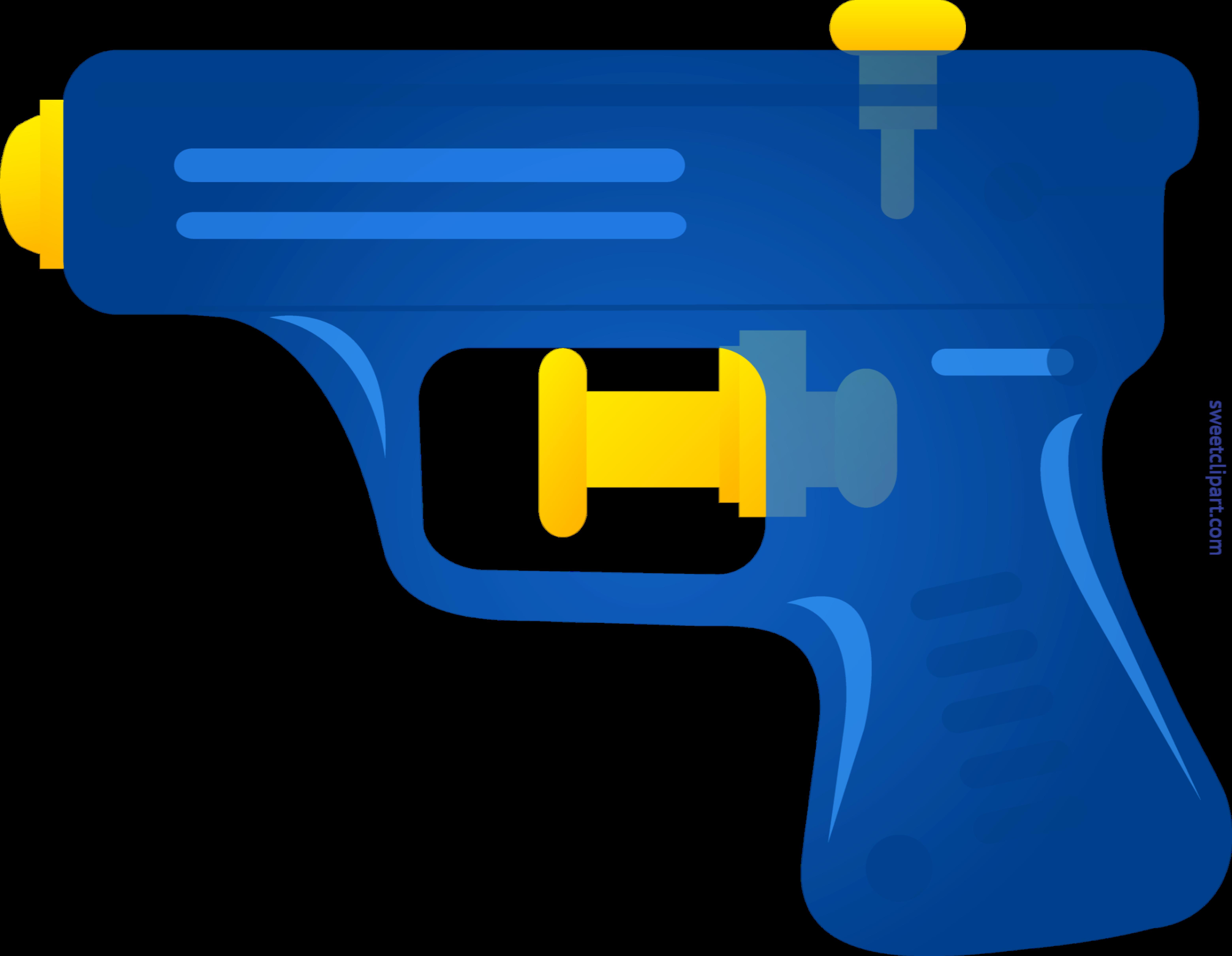 Gun clipart water gun. Squirt blue clip art