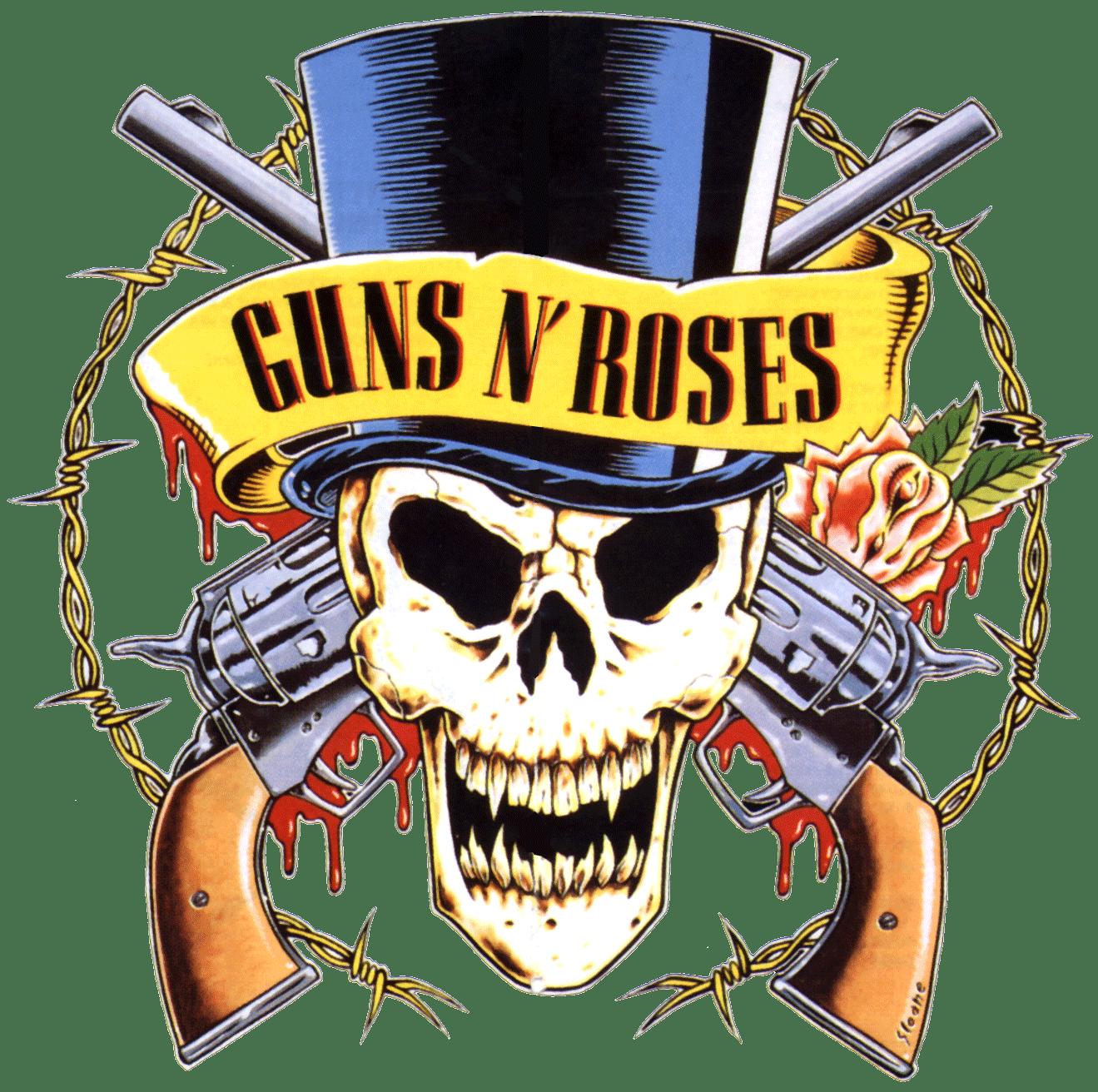 Guns n roses transparent. Clipart gun logo