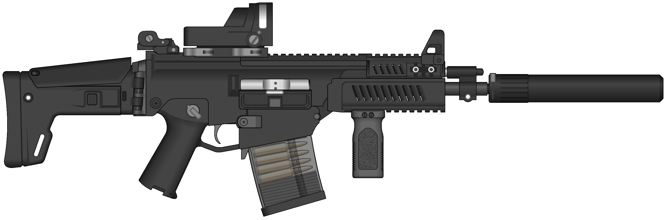 Assault rifle png image. Clipart gun long gun