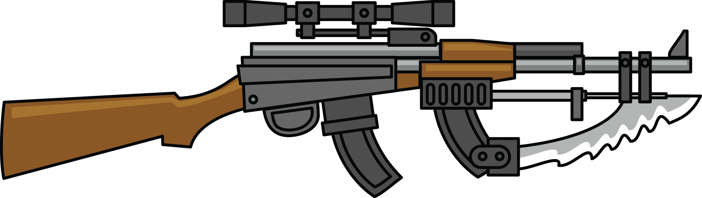 Weapon military pencil and. Gun clipart sniper