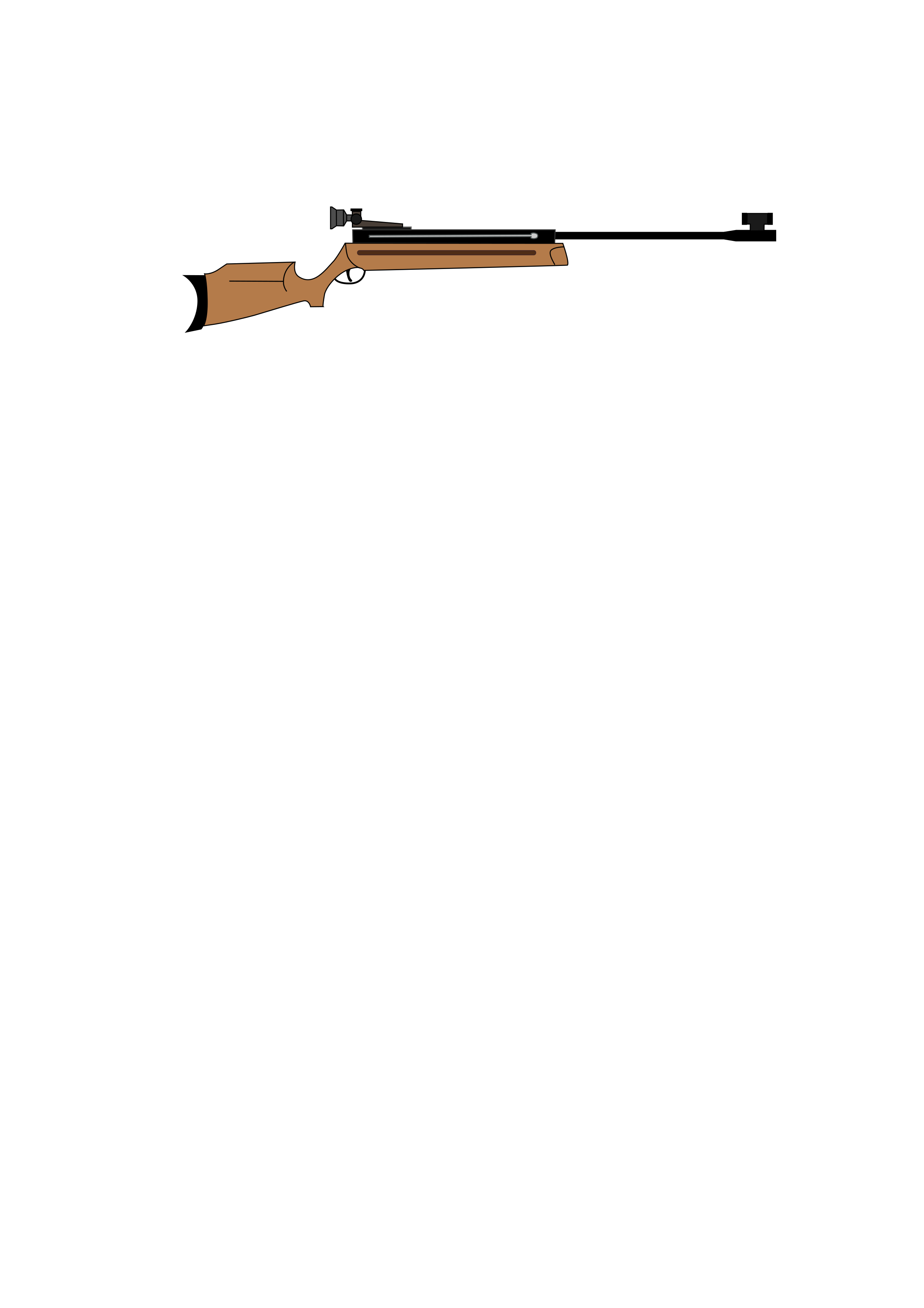 Clipart gun long gun. Air rifle big image