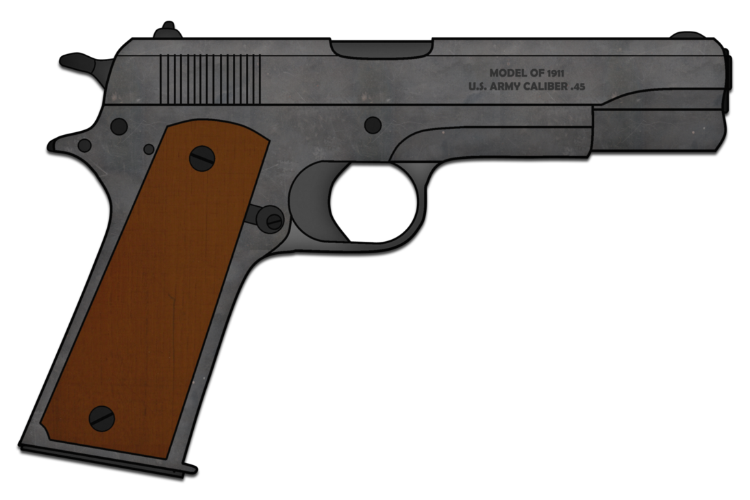 Colt m by skorpion. Guns clipart m1911
