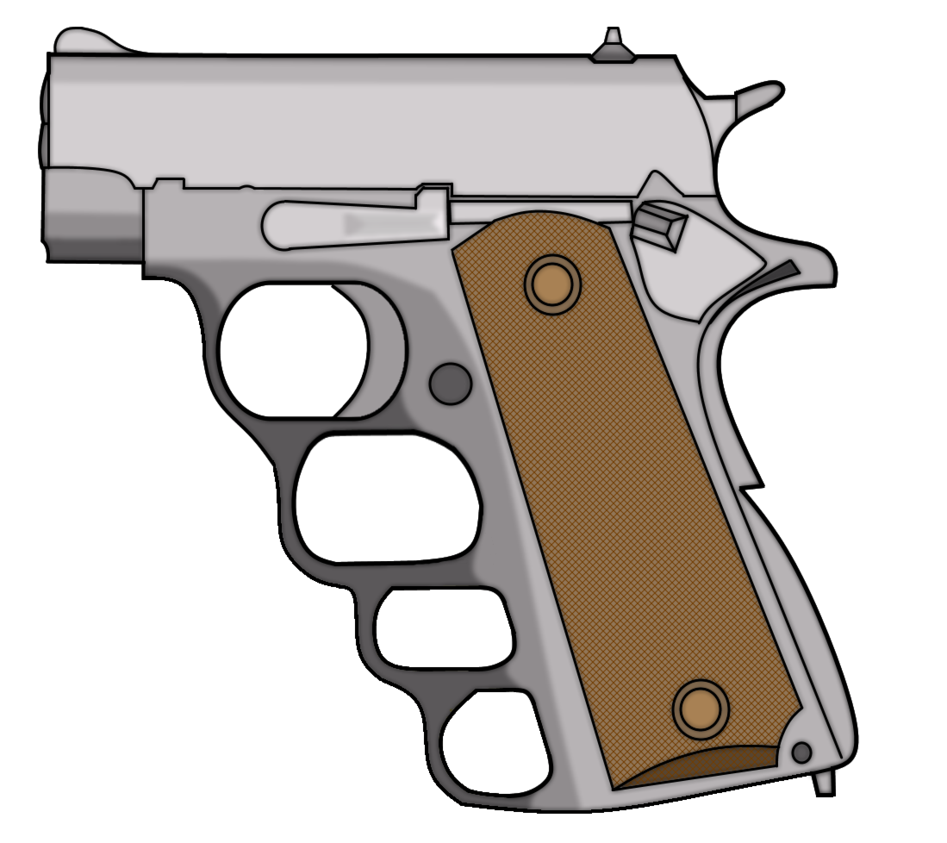 Guns clipart m1911. Knuckle stub by thefrozenwaffle