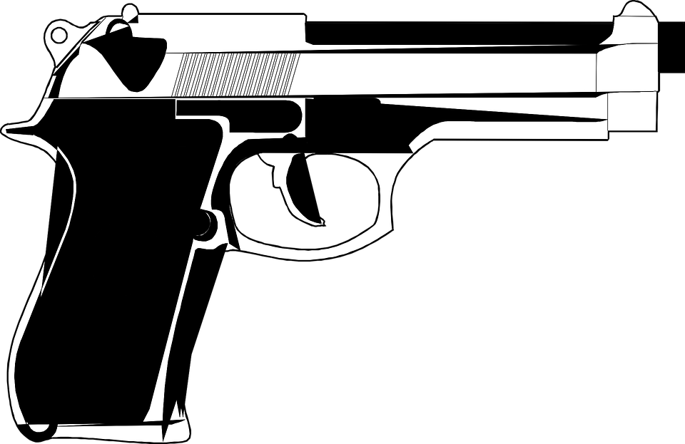 Clipart gun m1911. Cartoon png transparent images