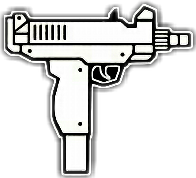 Uzi sticker by axel. Pistol clipart magnum