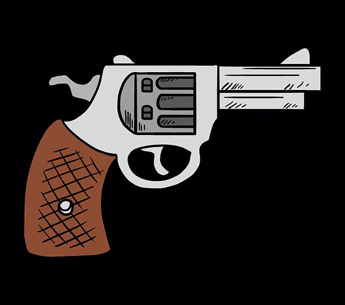 Handgun drawing at getdrawings. Clipart gun magnum