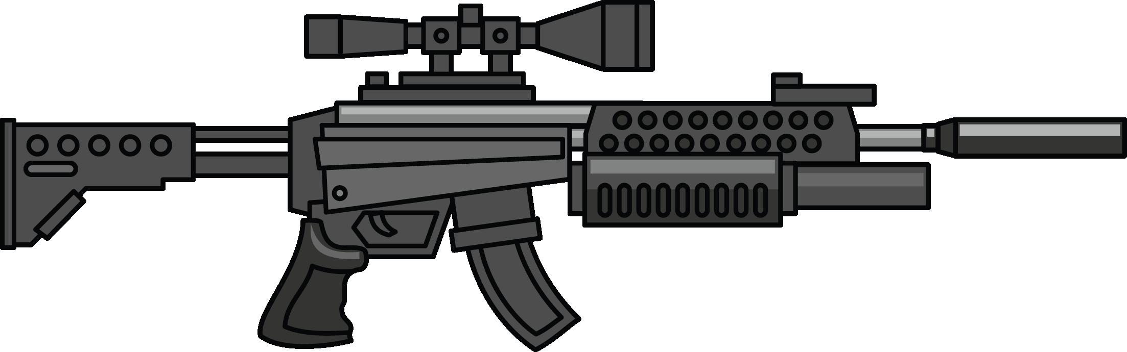 Weapon pencil and in. Clipart gun military gun