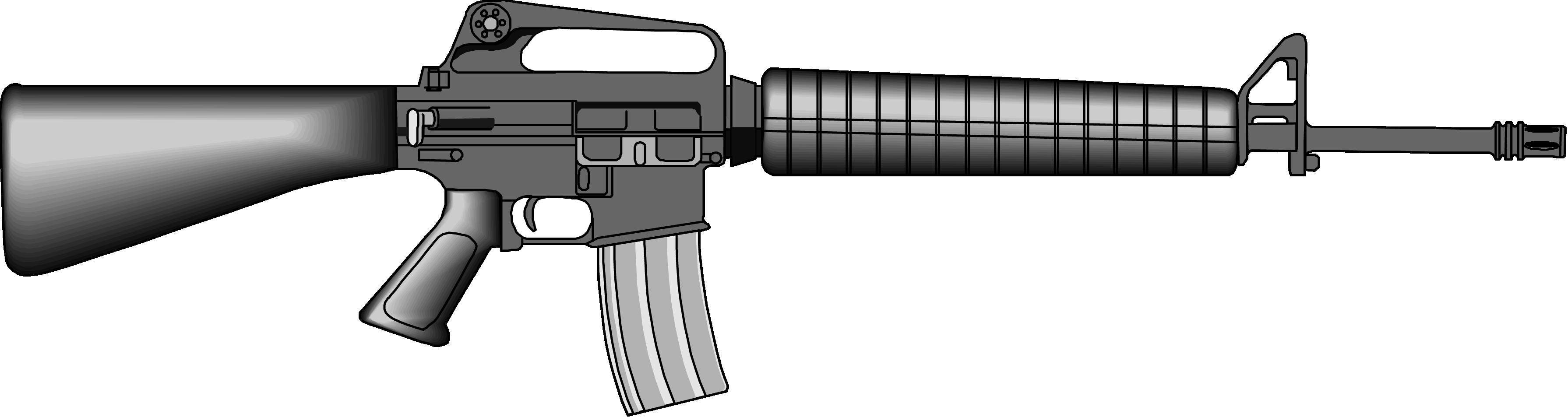 Clipart gun military gun. Weapon pencil and in