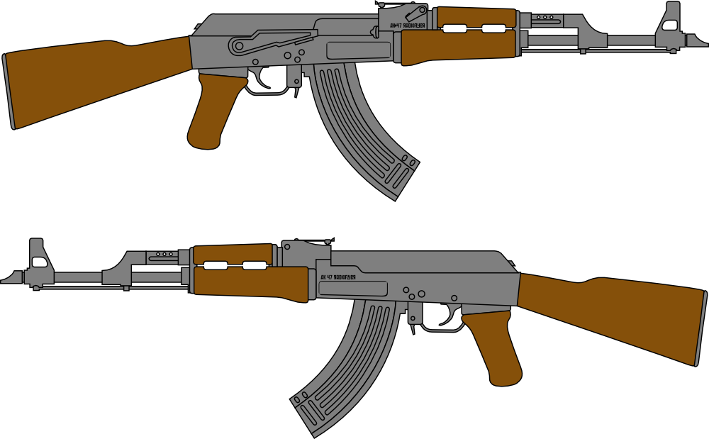 Ak drawing at getdrawings. Clipart gun minigun
