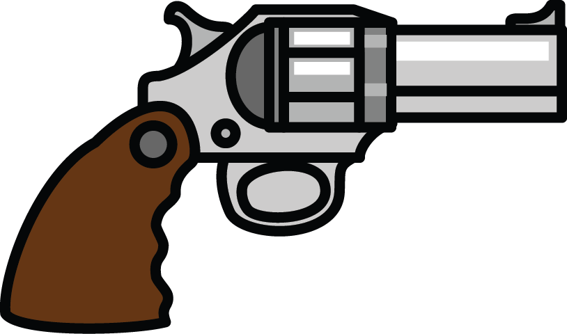 Pistol old fashioned gun. Welding clipart animated