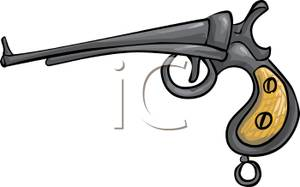 Clipart gun old fashioned. Pistol royalty free picture