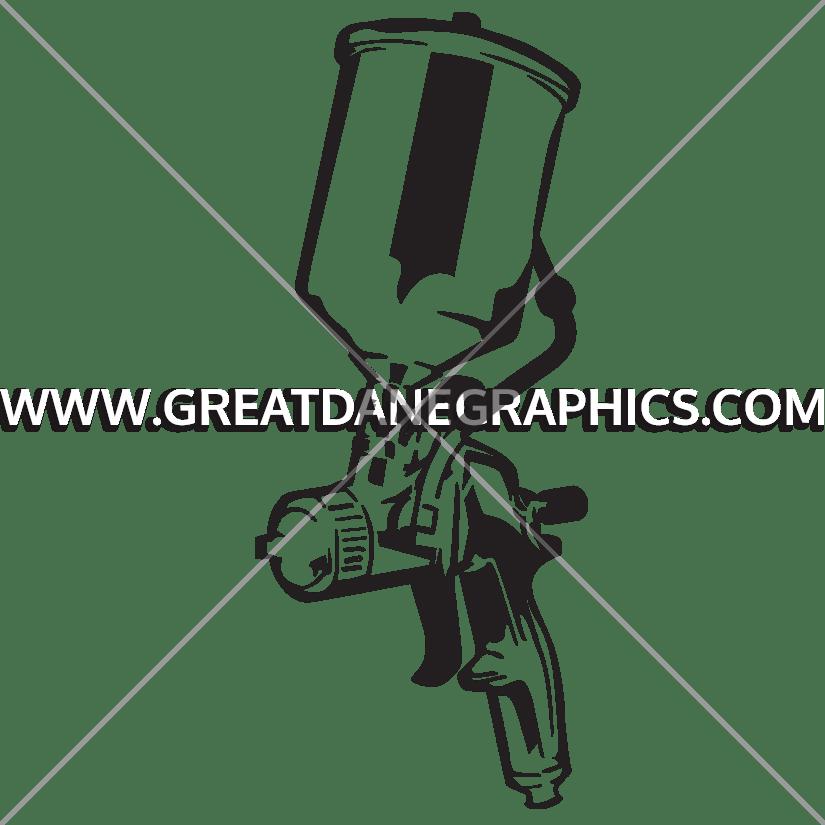 Spray production ready artwork. Clipart gun outline