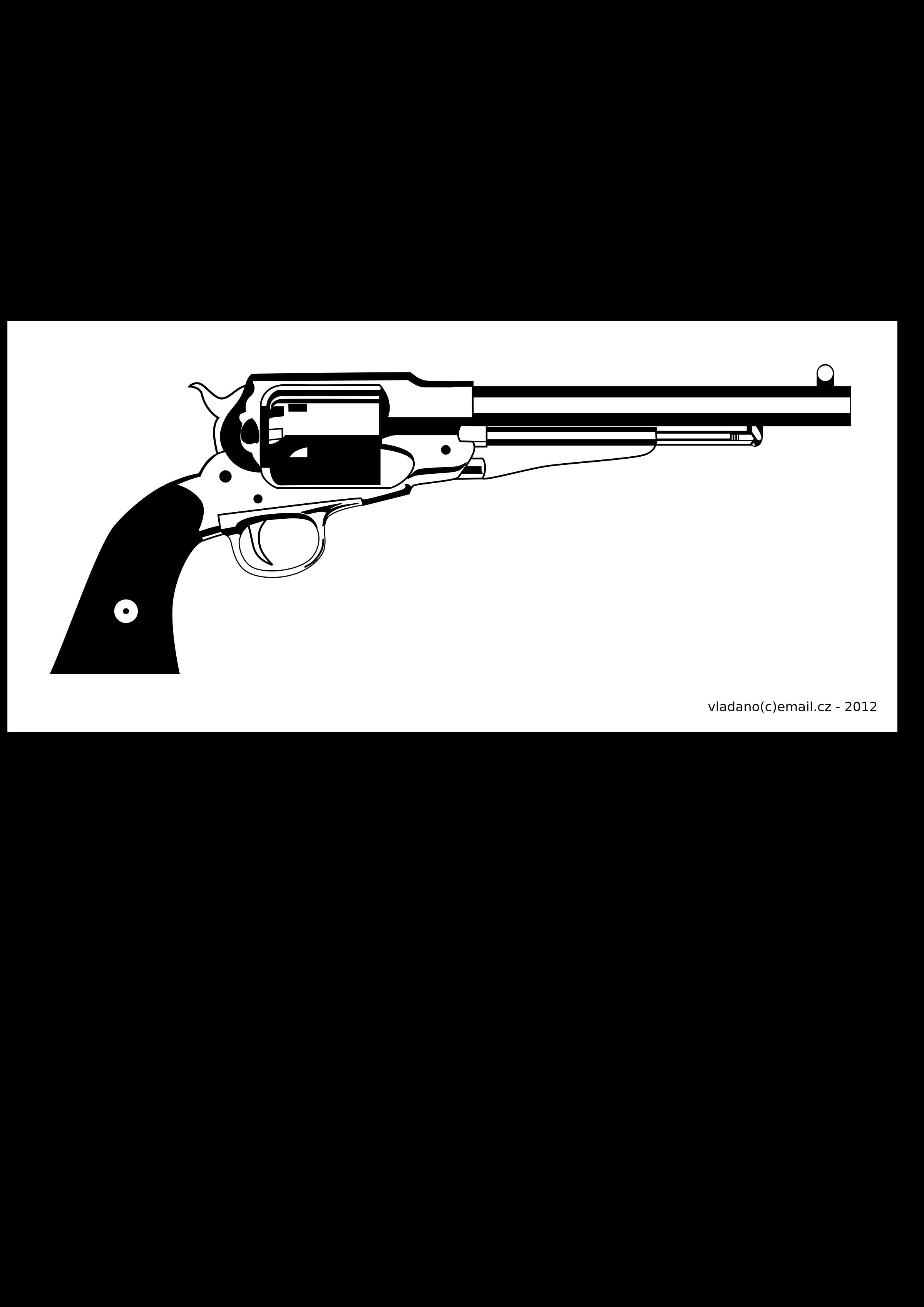 Clipart gun pdf. Revolver remington new model