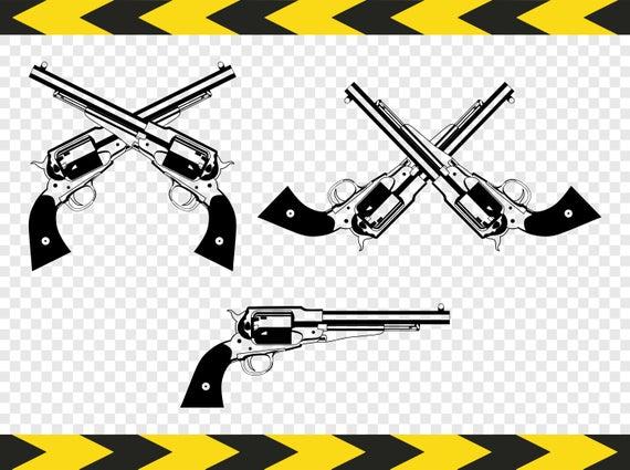 Clipart gun pdf. Revolver svg silhouette colt