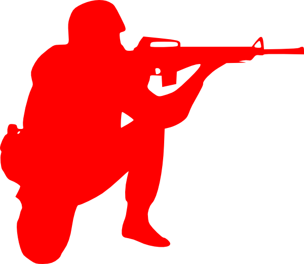 Soldier silhouette png at. Clipart gun person