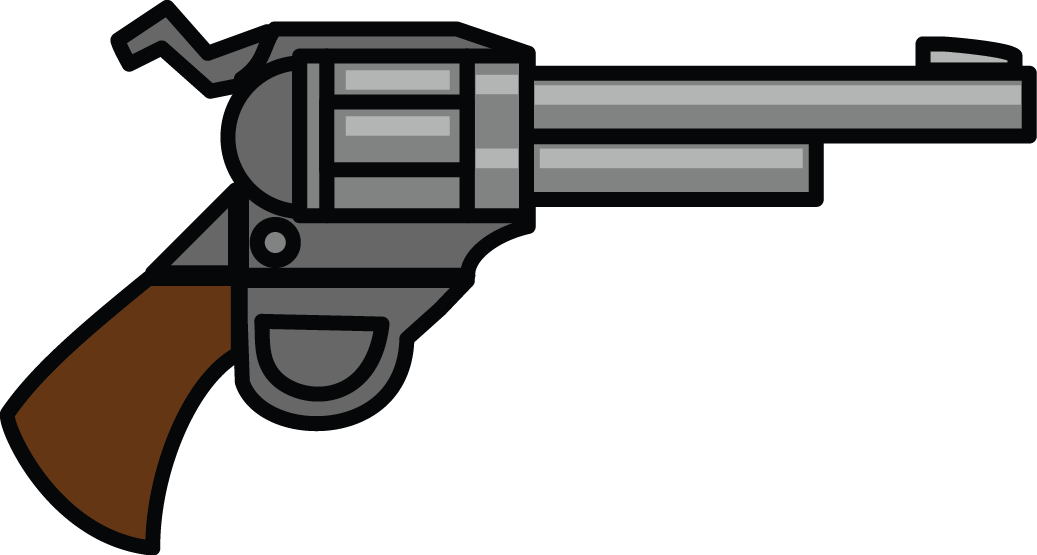 Letters format cartoon cliparts. Clipart gun police