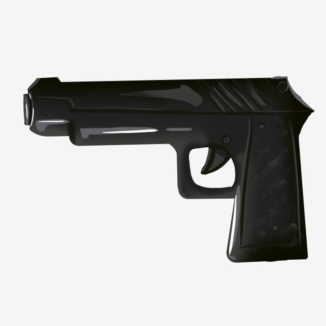 Weapon pistol illustration supplies. Clipart gun police