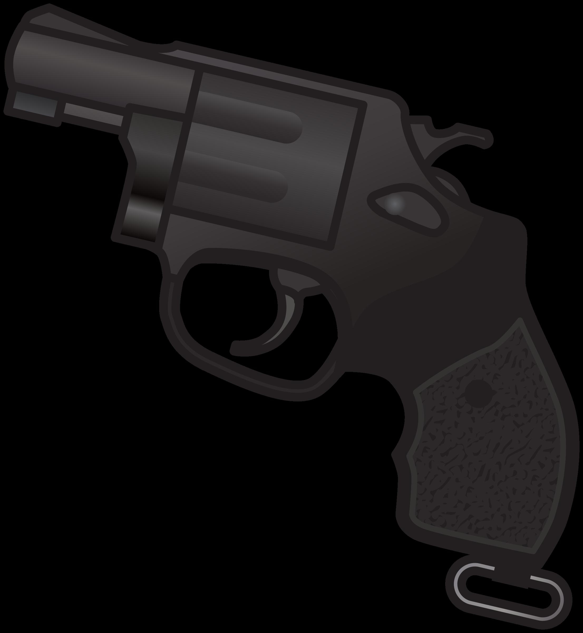 New nambu m revolver. Clipart gun police