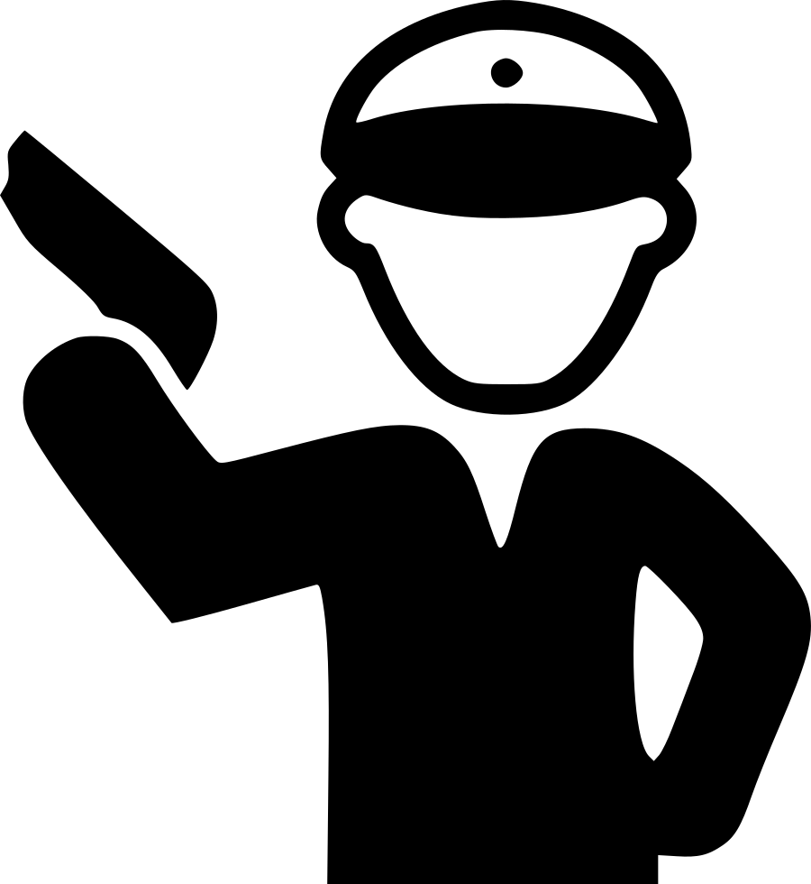 Holding svg png icon. Clipart gun policeman