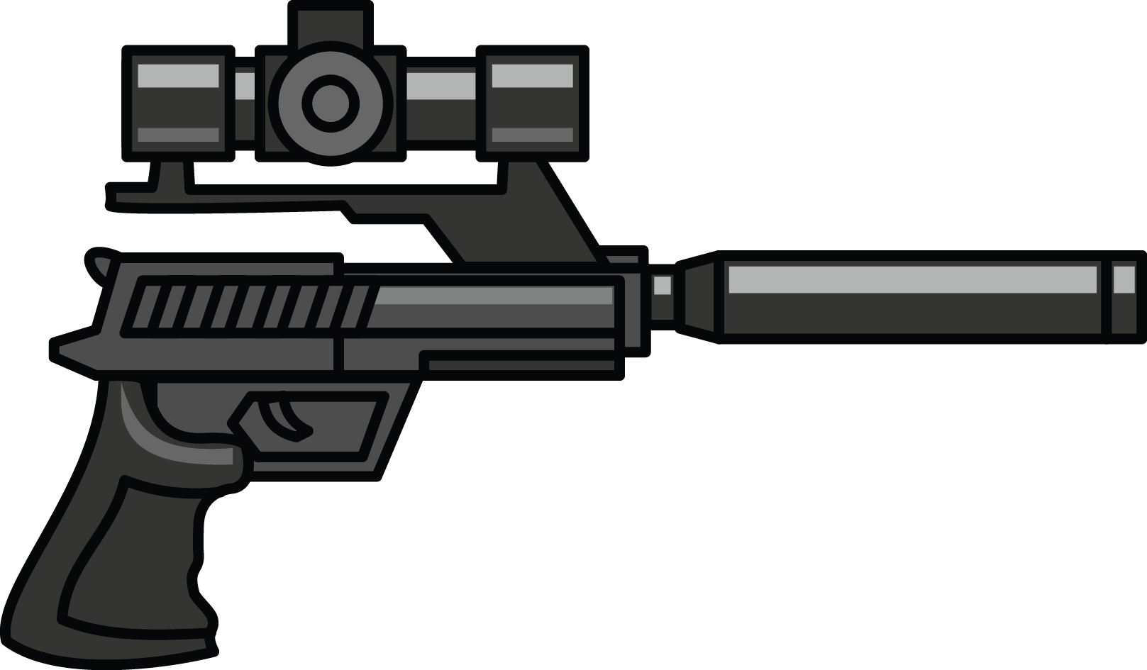 Snipers pencil and in. Clipart gun policeman