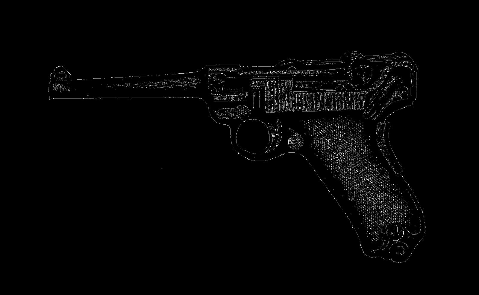 Clipart gun printable. Digital stamp design vintage