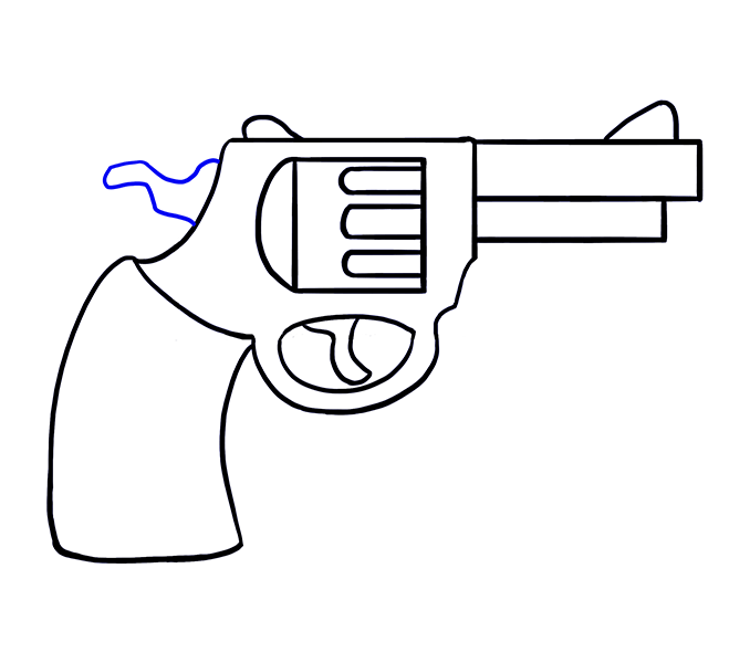Clipart gun printable. Easy pencil and in