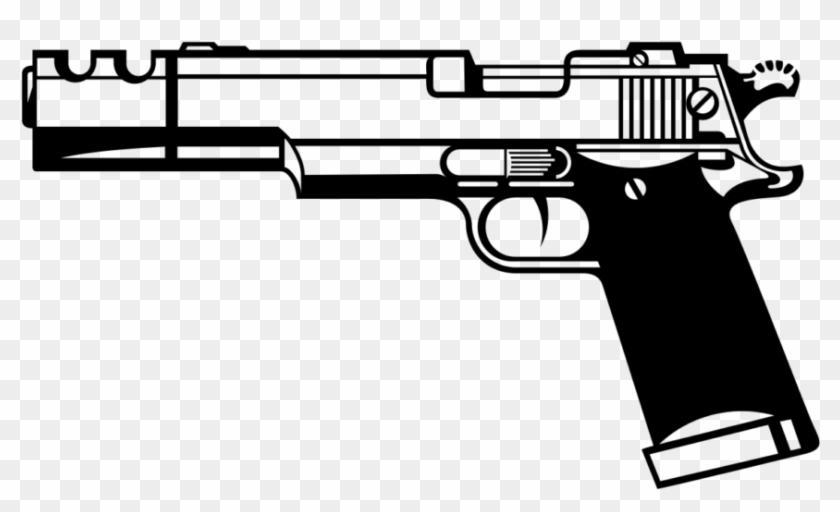 Svg library stock hand. Clipart gun real gun