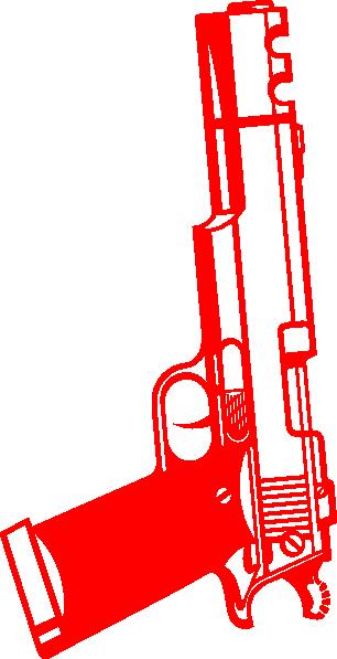 Clip art at clker. Clipart gun red