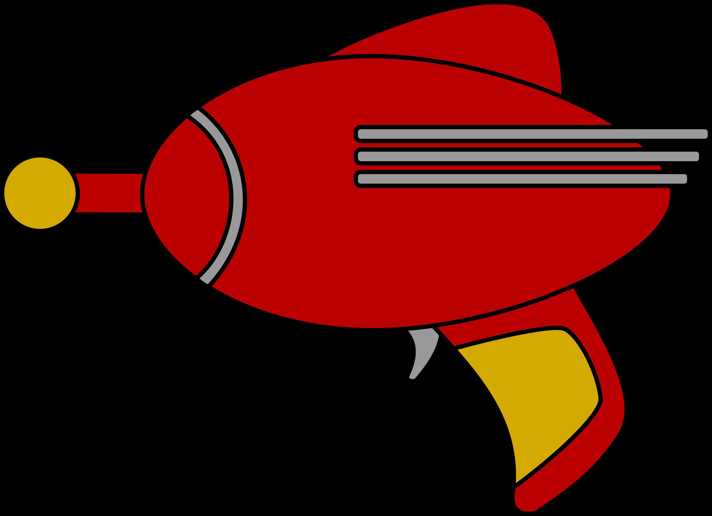 Ray big image png. Clipart gun red