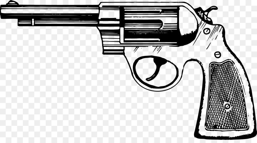 Cartoon product transparent clip. Clipart gun revolver