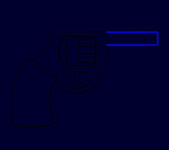 How to draw a. Clipart gun revolver