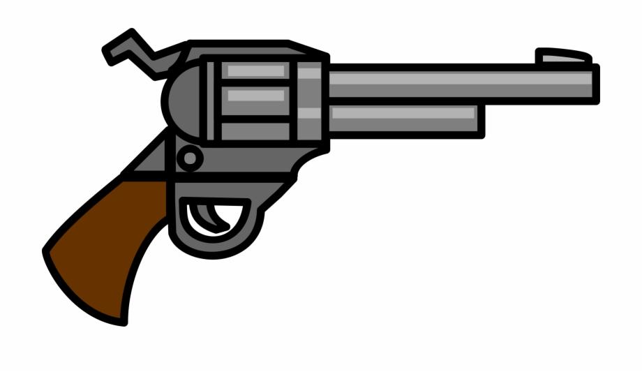 Clipart gun revolver. This cartoon pistol