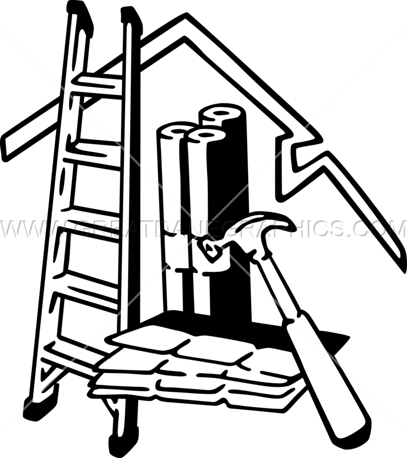 clipart hammer roofing tool
