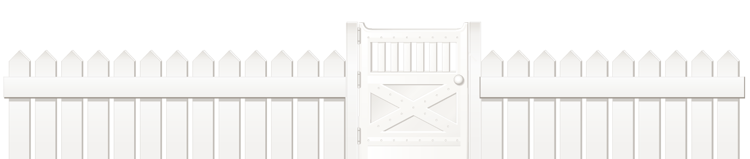 Clipart gun roofing. White fence with door