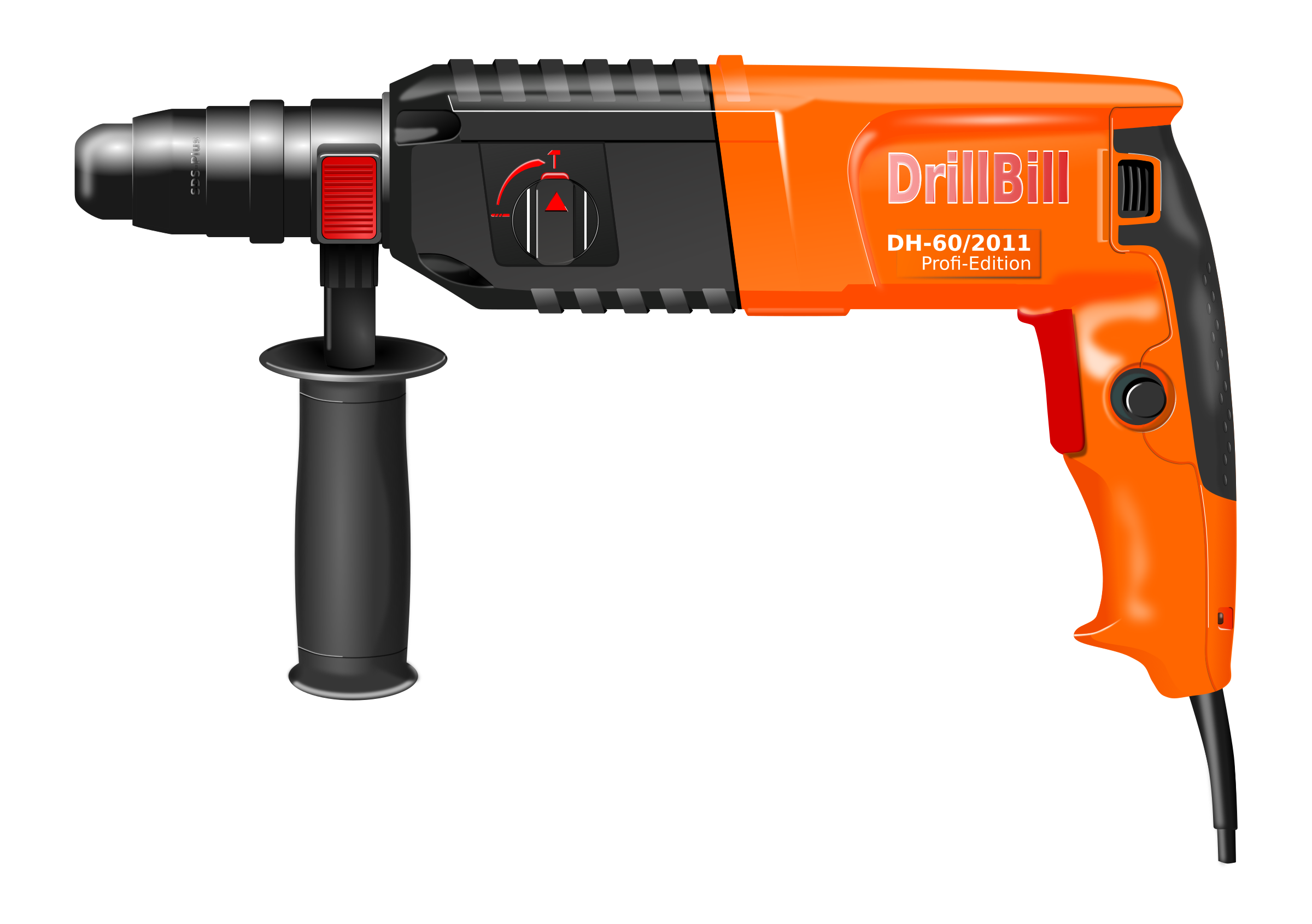 Clipart hammer roofing tool. Photorealistic drill big image