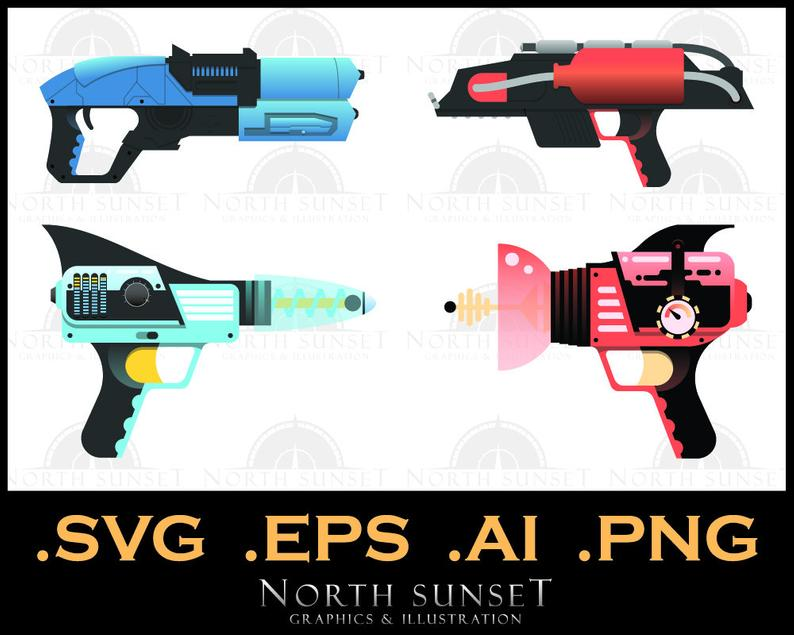 ray illustration graphics. Clipart gun sci fi