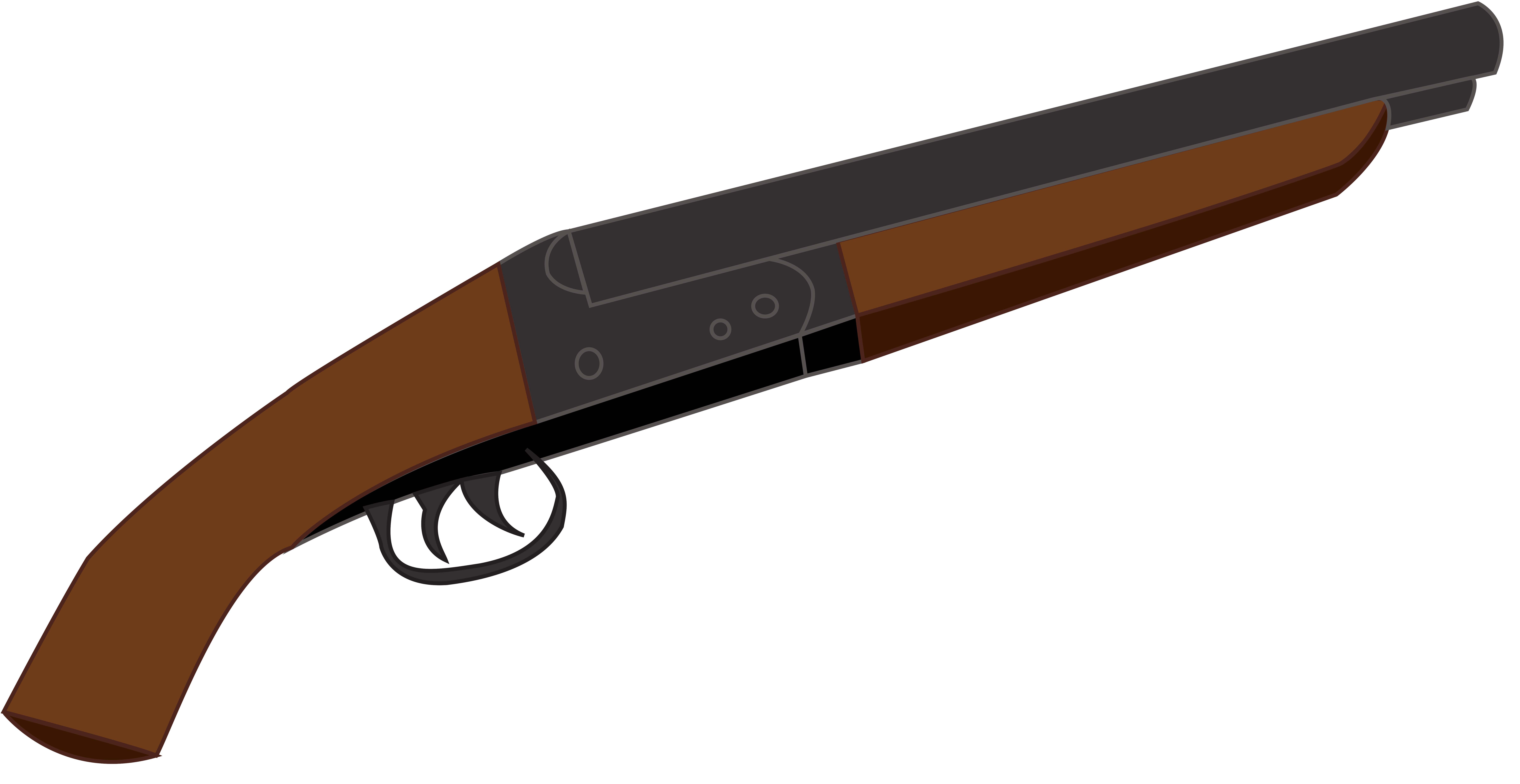 Clipart gun shotgun. Sawed off double barrel