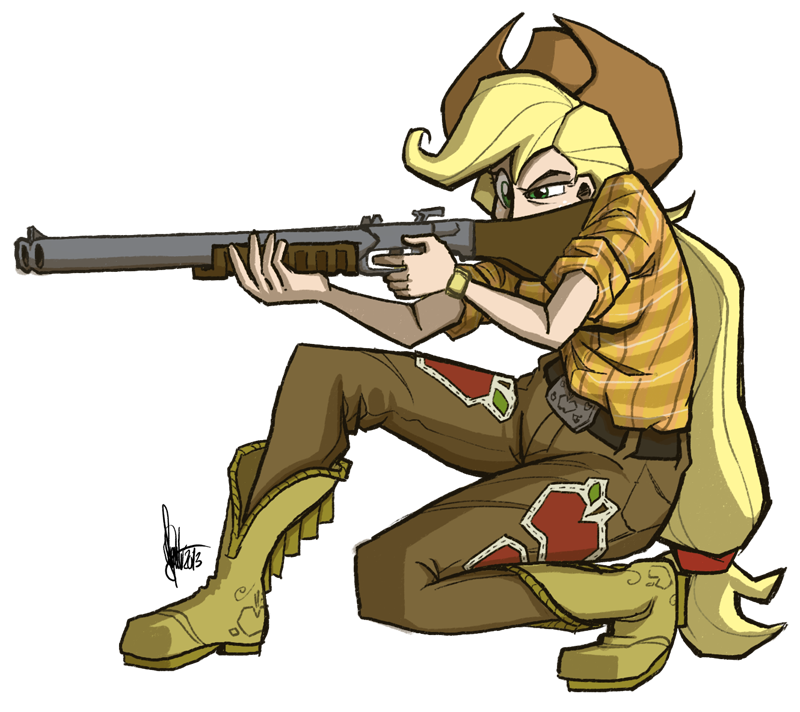 Applejack by theartrix on. Clipart gun shotgun