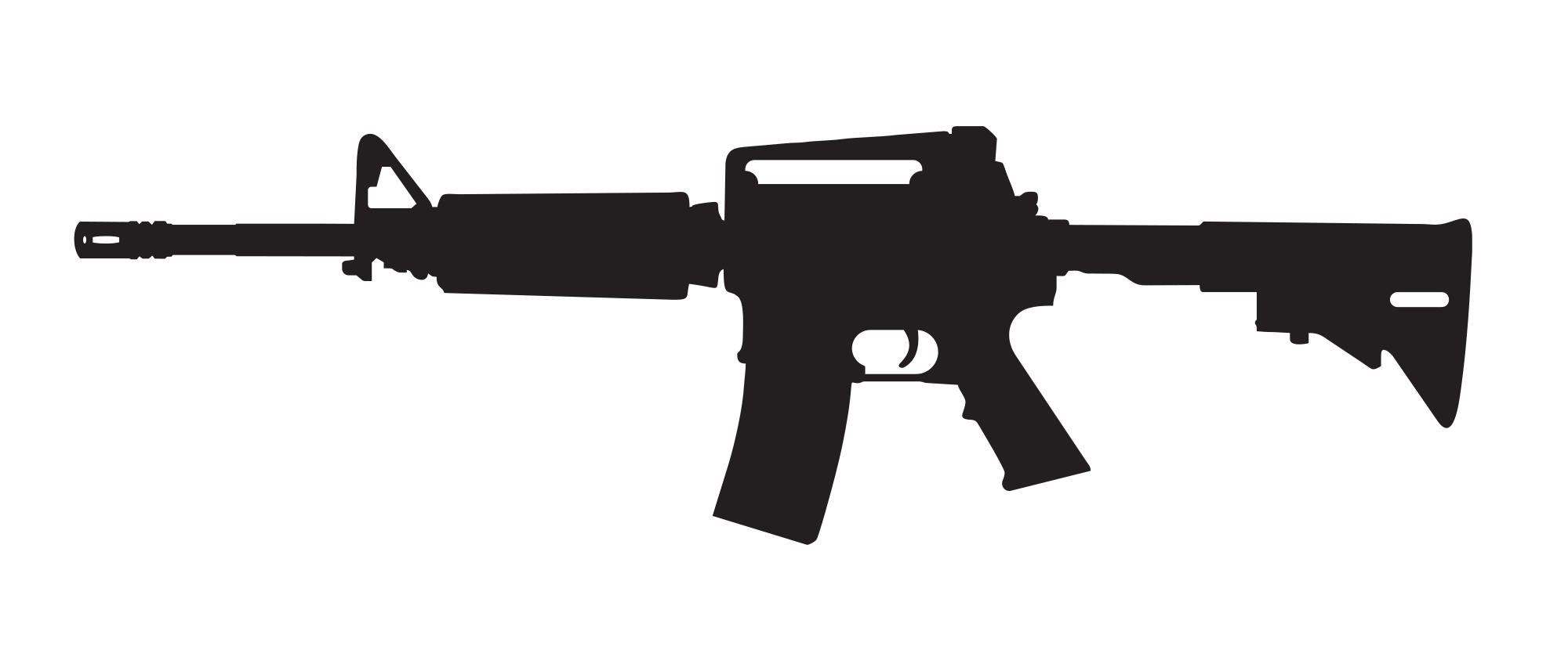 Colt at getdrawings com. Guns clipart silhouette