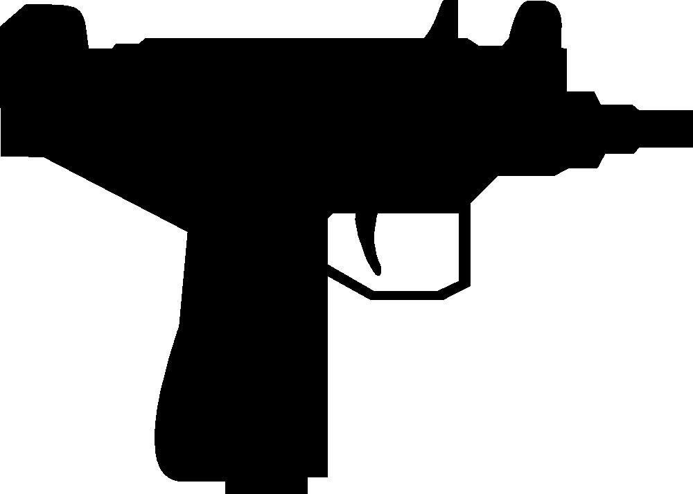 Clipart gun silhouette. Onlinelabels clip art uzi
