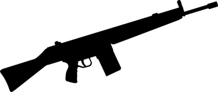 Clipart gun silhouette. Clip art panda free