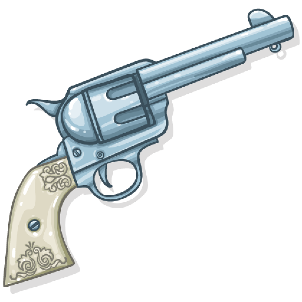 Silhouette at getdrawings com. Clipart gun six shooter