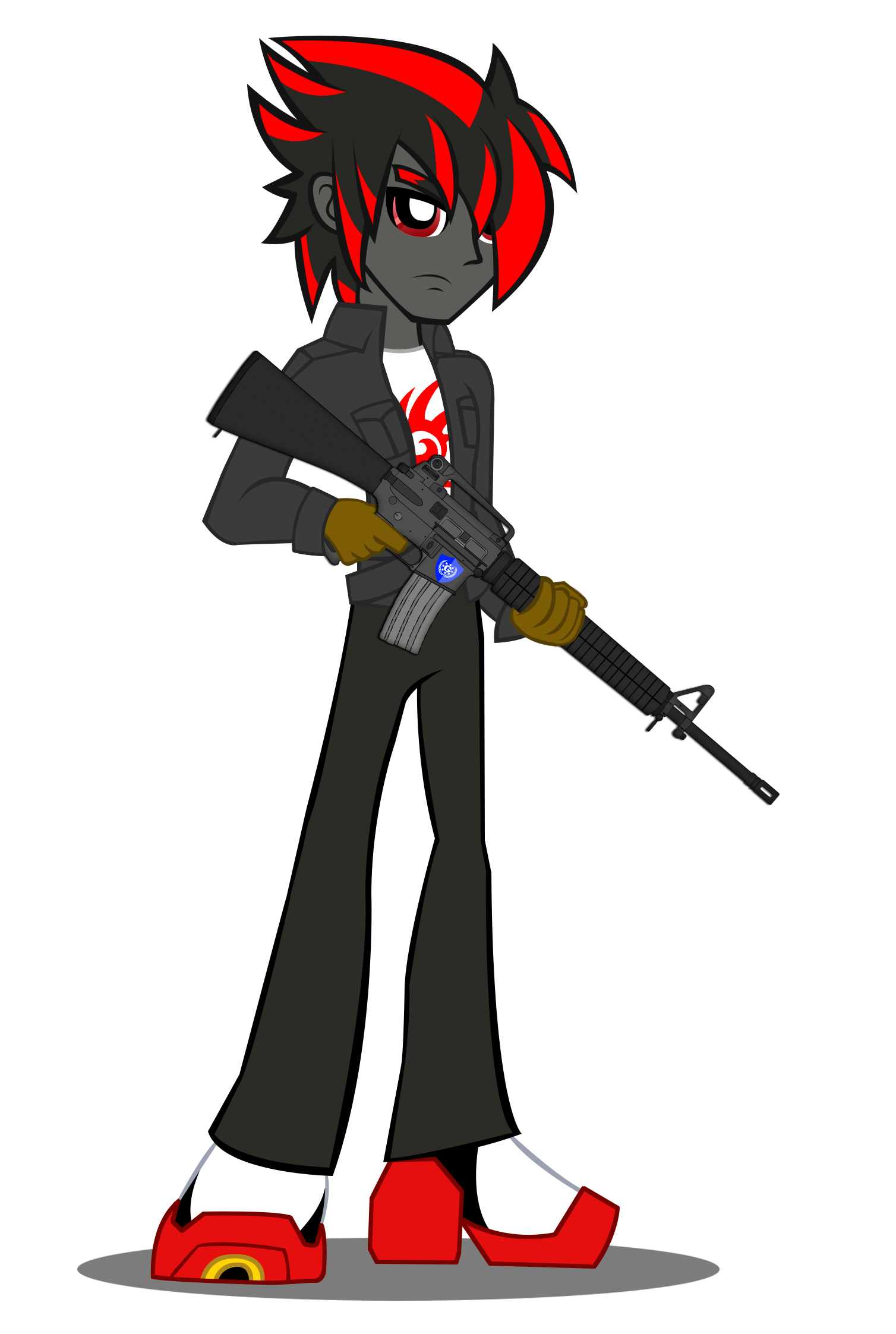 Commission shadow in eq. Clipart gun six shooter