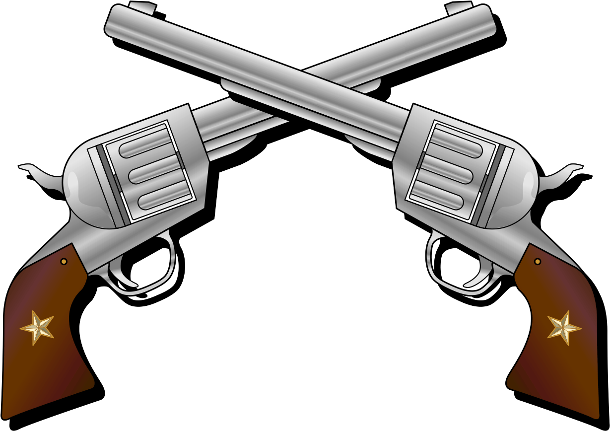 Png royalty free stock. Clipart gun six shooter