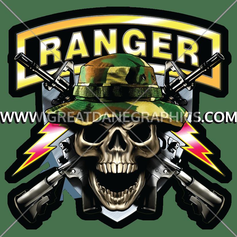 Army ranger production ready. Clipart gun skull