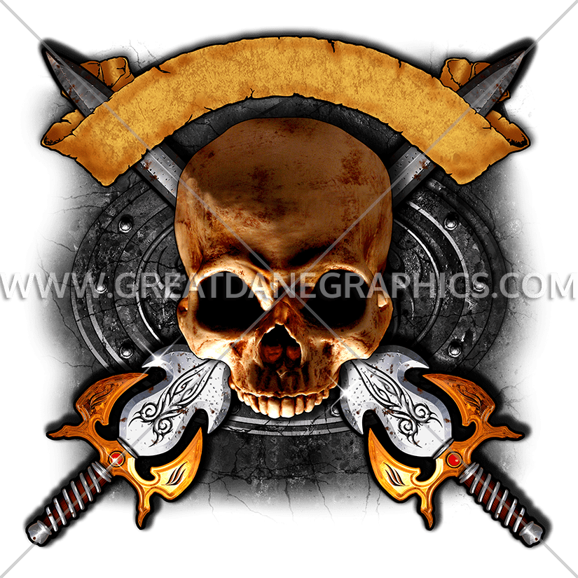 Clipart gun skull. Swords production ready artwork