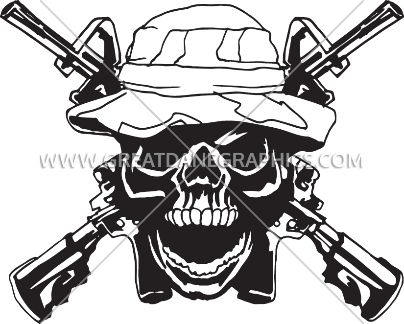 Clipart gun skull. Army ranger production ready