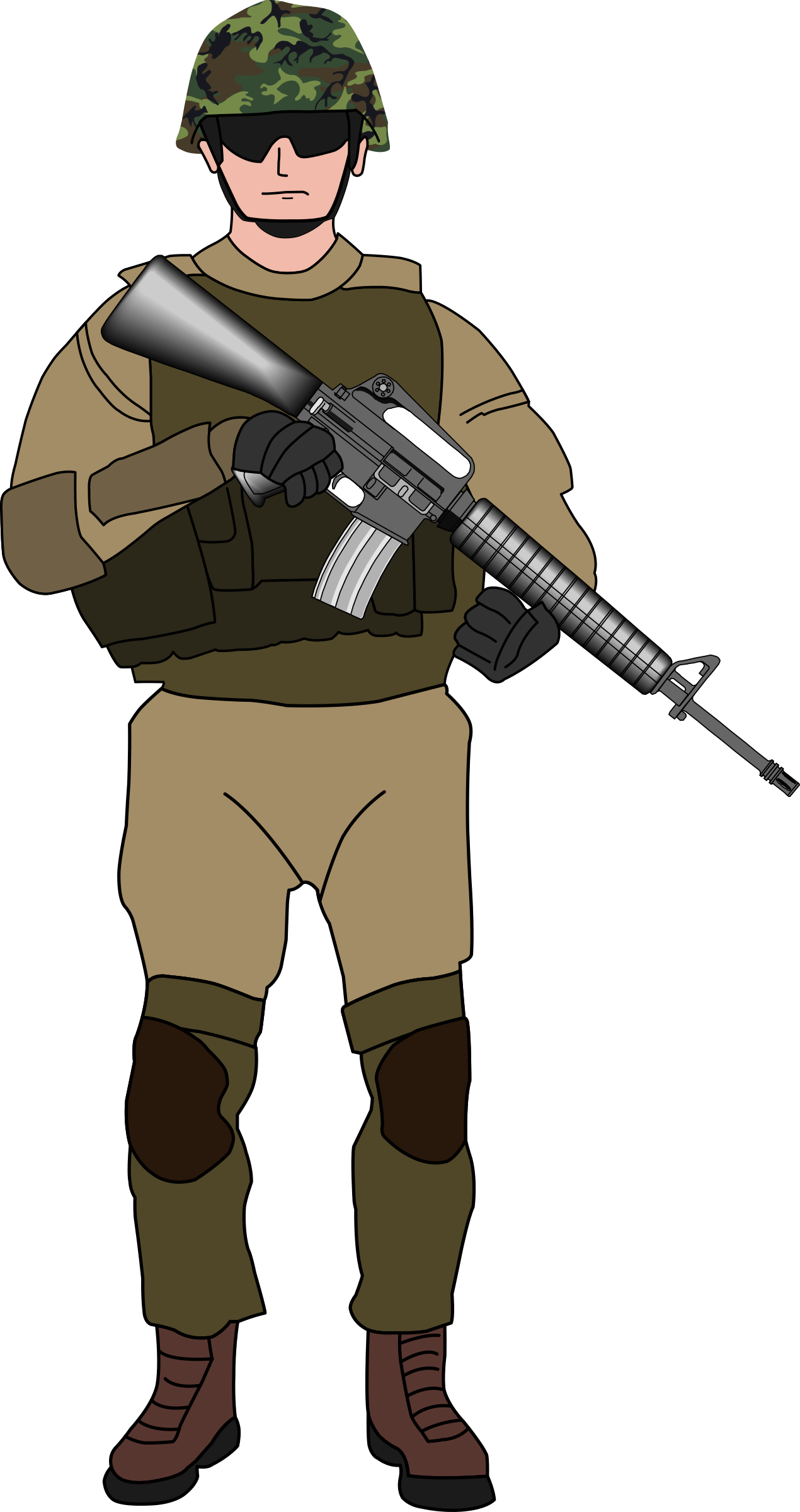 Soldier. Military clipart military child