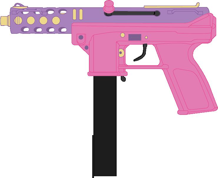 Skyla s tec by. Clipart gun submachine gun