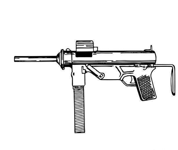 Clipart gun submachine gun. Illustration free stock photo